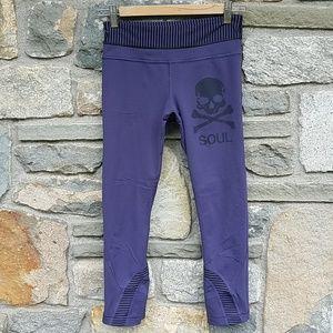 Lululemon X soulcycle skull crop leggings